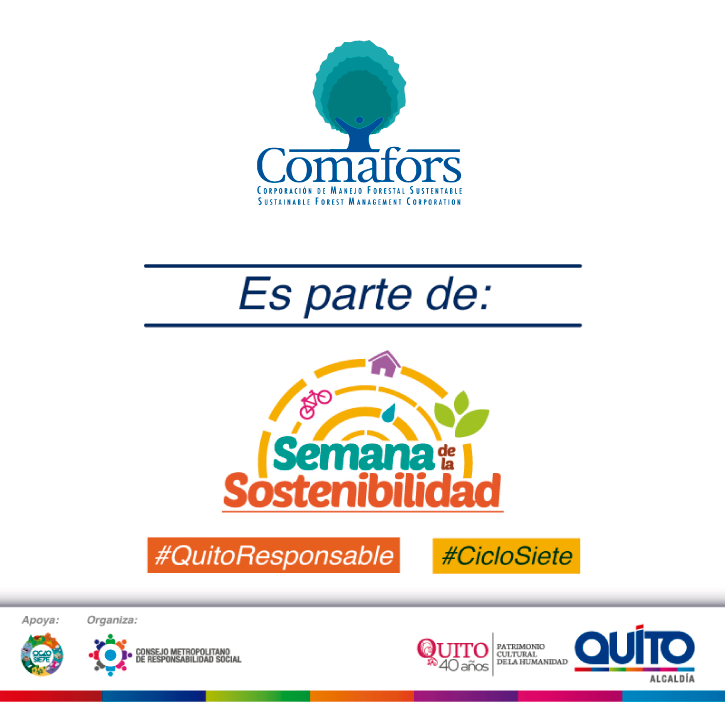 COMAFORS forma parte de la organización de la Semana de Sostenibilidad en el Distrito Metropolitano de Quito